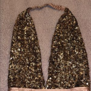 Out from Under Sequin Open Back Bodysuit